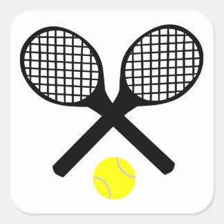 テニスラケットおよびテニス・ボール スクエアシール
