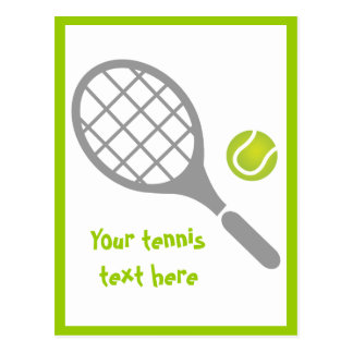 テニスラケットおよび球のカスタム ポストカード