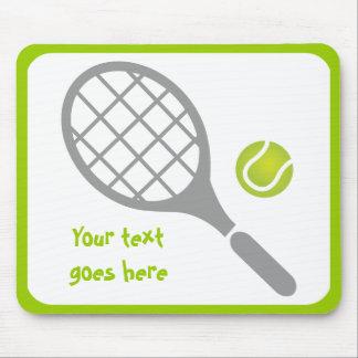 テニスラケットおよび球のカスタム マウスパッド
