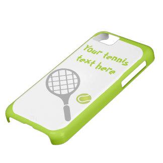 テニスラケットおよび球のカスタム iPhone5Cケース