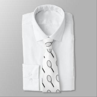 テニスラケットのパターン(の模様が)あるでカスタムなタイ ネクタイ