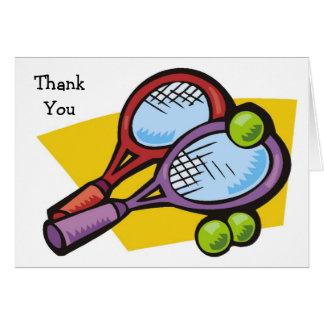 テニスラケットの球のサンキューカード カード