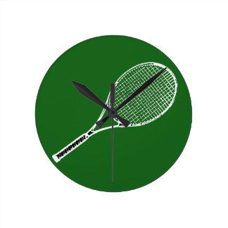 テニスラケット ラウンド壁時計