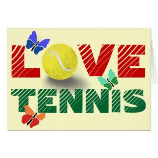 テニス愛 グリーティングカード