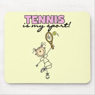 テニス私のスポーツのTシャツおよびギフト マウスパッド