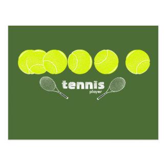 テニス選手のためのアイディア ポストカード