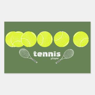 テニス選手のためのアイディア 長方形シール
