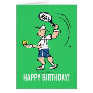 テニス選手のための誕生日の挨拶状 グリーティングカード
