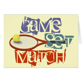 テニス選手のハッピーバースデー グリーティングカード