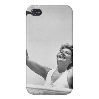 テニス2を遊んでいる女性 iPhone 4/4Sケース