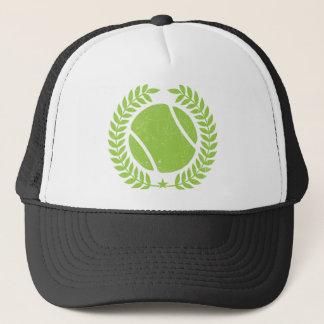 テニス・ボールおよびテニスのチームヴィンテージのデザイン キャップ