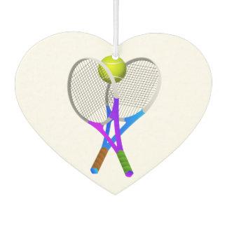 テニス・ボールおよびラケット カーエアーフレッシュナー