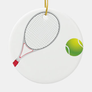 テニス・ボールおよびラケット セラミックオーナメント