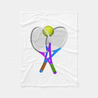 テニス・ボールおよびラケット フリースブランケット