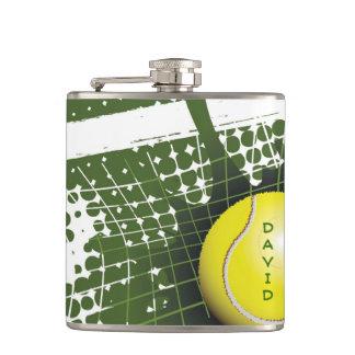 テニス・ボールおよび網のデザインのフラスコ フラスク