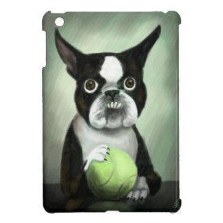 テニス・ボールが付いているボストンテリア iPad MINI CASE