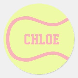 テニス・ボールのステッカー-それをカスタマイズ! ラウンドシール