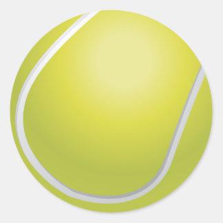 テニス・ボールのステッカー ラウンドシール