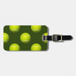 テニス・ボールのスポーツ ラゲッジタグ