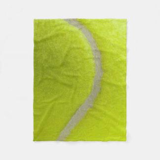 テニス・ボールのプリントパターン背景 フリースブランケット