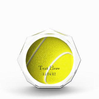 テニス・ボールの水晶のトロフィ 表彰盾