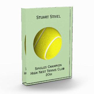 テニス・ボールの水晶トロフィ4ライン 表彰盾