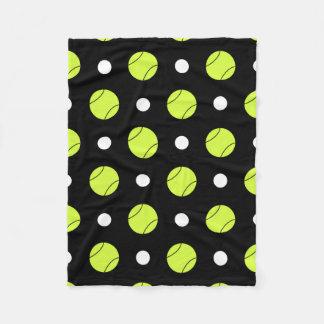 テニス・ボールの水玉模様パターンカスタムの背景 フリースブランケット