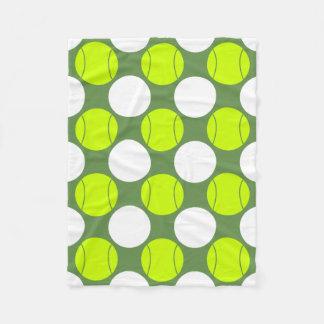 テニス・ボールの水玉模様パターン フリースブランケット
