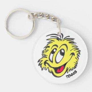 テニス・ボールの漫画の円Keychain キーホルダー