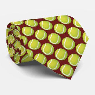 テニス・ボールパターン スポーツのギフト ネクタイ