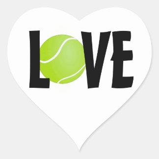 テニス・ボール愛 ハートシール