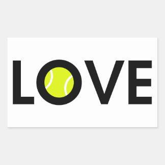 テニス・ボール愛 長方形シール