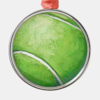 テニス・ボール メタルオーナメント