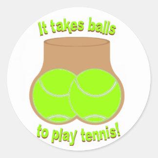 テニス・ボール ラウンドシール