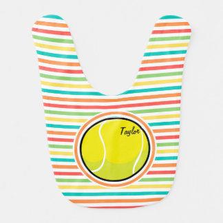 テニス・ボール; 明るい虹は縞で飾ります ベビービブ