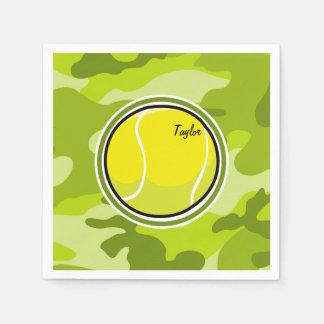 テニス・ボール; 若草色の迷彩柄、カムフラージュ スタンダードカクテルナプキン