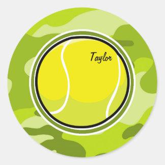 テニス・ボール; 若草色の迷彩柄、カムフラージュ ラウンドシール