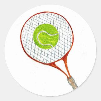 テニス・ボールSketch3 ラウンドシール
