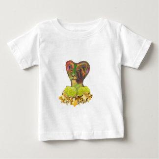 テニス、ライオンおよび星 ベビーTシャツ