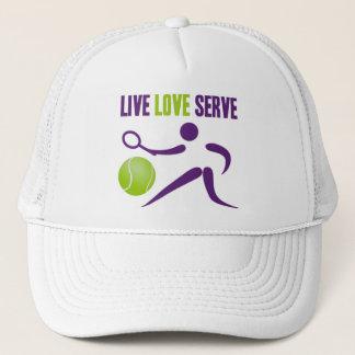 テニス: 生きている。 愛。 サーブ キャップ