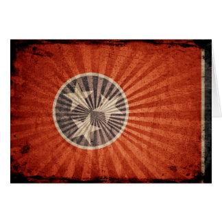 テネシー州のクールでグランジな旗 カード