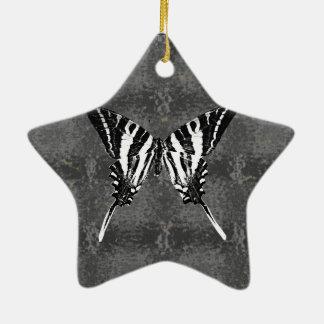 テネシー州のシマウマのアゲハチョウの蝶 セラミックオーナメント