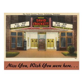 テネシー州のデイヴィッドCrockettの劇場、Gatlinburg ポストカード