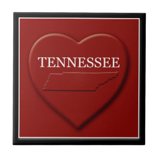 テネシー州のハートの地図の家の装飾のタイル タイル