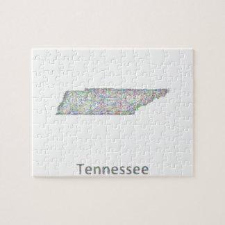 テネシー州の地図 ジグソーパズル