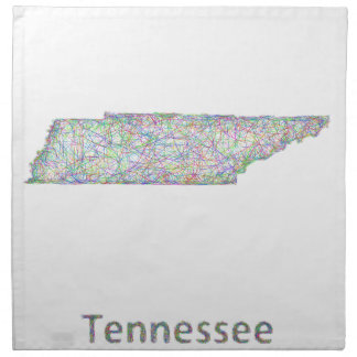 テネシー州の地図 ナプキンクロス