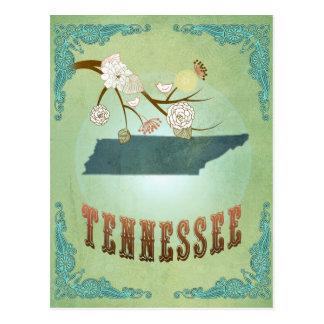 テネシー州の州の地図-緑 ポストカード