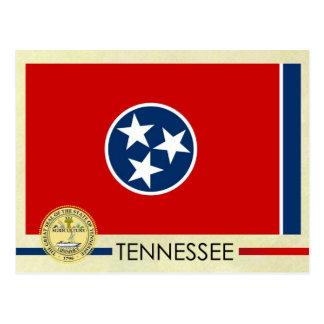 テネシー州の州の旗およびシール ポストカード
