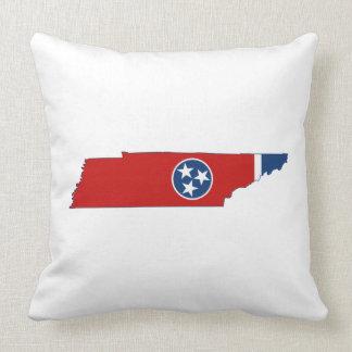 テネシー州の州の旗および地図 クッション