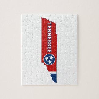 テネシー州の州の旗および地図 ジグソーパズル